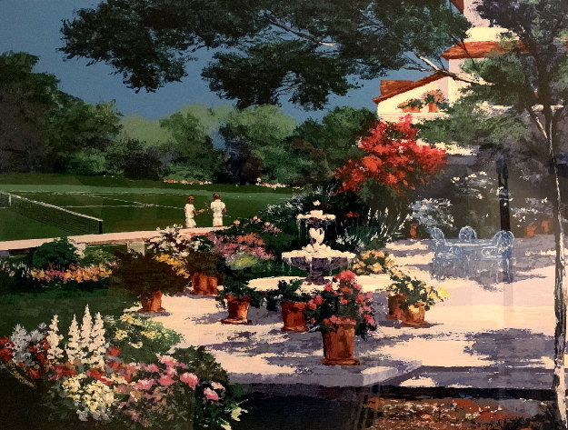 Tennis Landscape 1989 Limited Edition Print by Mark King