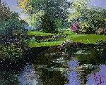 Morning Waterlilies  Original Painting - Mark King