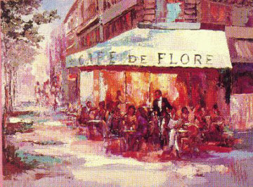 Cafe de Flore 1989 39x46 Super Huge Limited Edition Print - Mark King