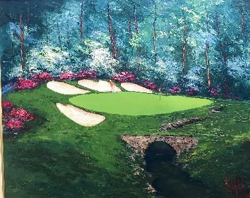 Augusta #13 2013 35x41 Original Painting - Mark King