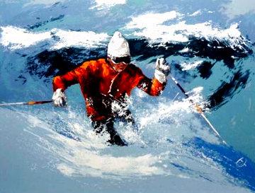 Powder Skier Limited Edition Print - Mark King