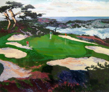 Cypress Point #15 1988 33x39 Huge  Limited Edition Print - Mark King