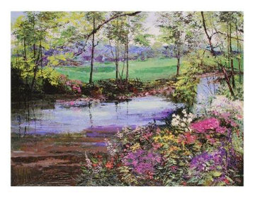 Landscape with Flowers AP Limited Edition Print - Mark King