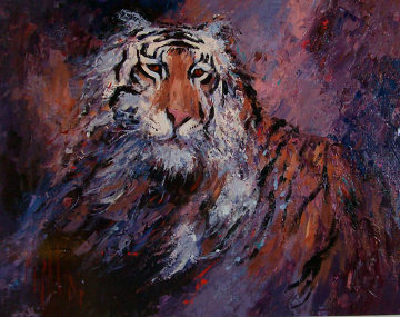 Tiger 2005 29x39 Original Painting - Mark King