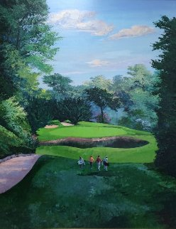 Bel Aire Country Club Hole #3 2002 California 72x60 Super Huge Original Painting - Mark King