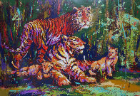 Bengal Family AP 1970 Limited Edition Print by Mark King - 0