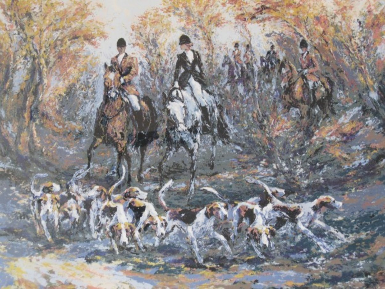 Autumn Hunt 1991 Limited Edition Print by Mark King