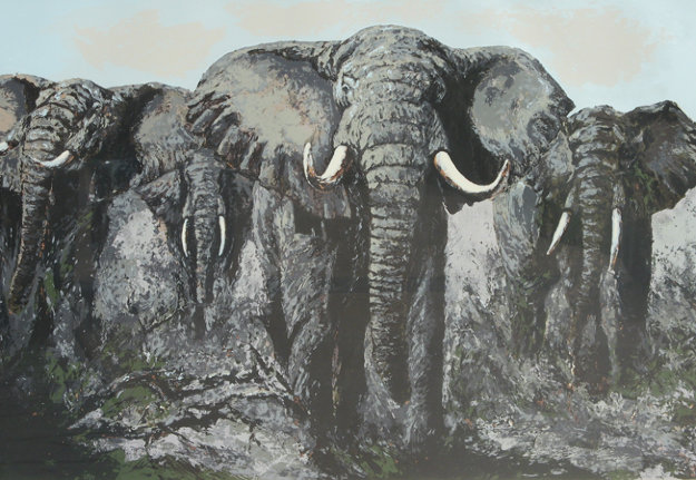 Elephant Stand Limited Edition Print by Mark King