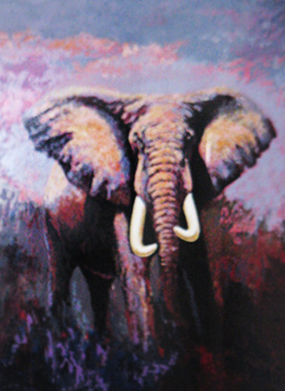 Lone Tusker 1991 Limited Edition Print by Mark King