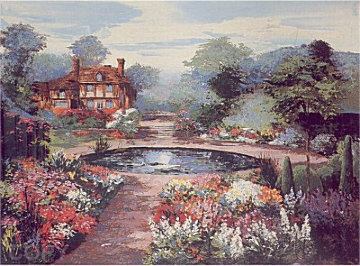 An English Water Garden 1991 Limited Edition Print - Mark King