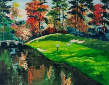 Augusta 12 in Fall (Golf Series III) 1991 Limited Edition Print by Mark King