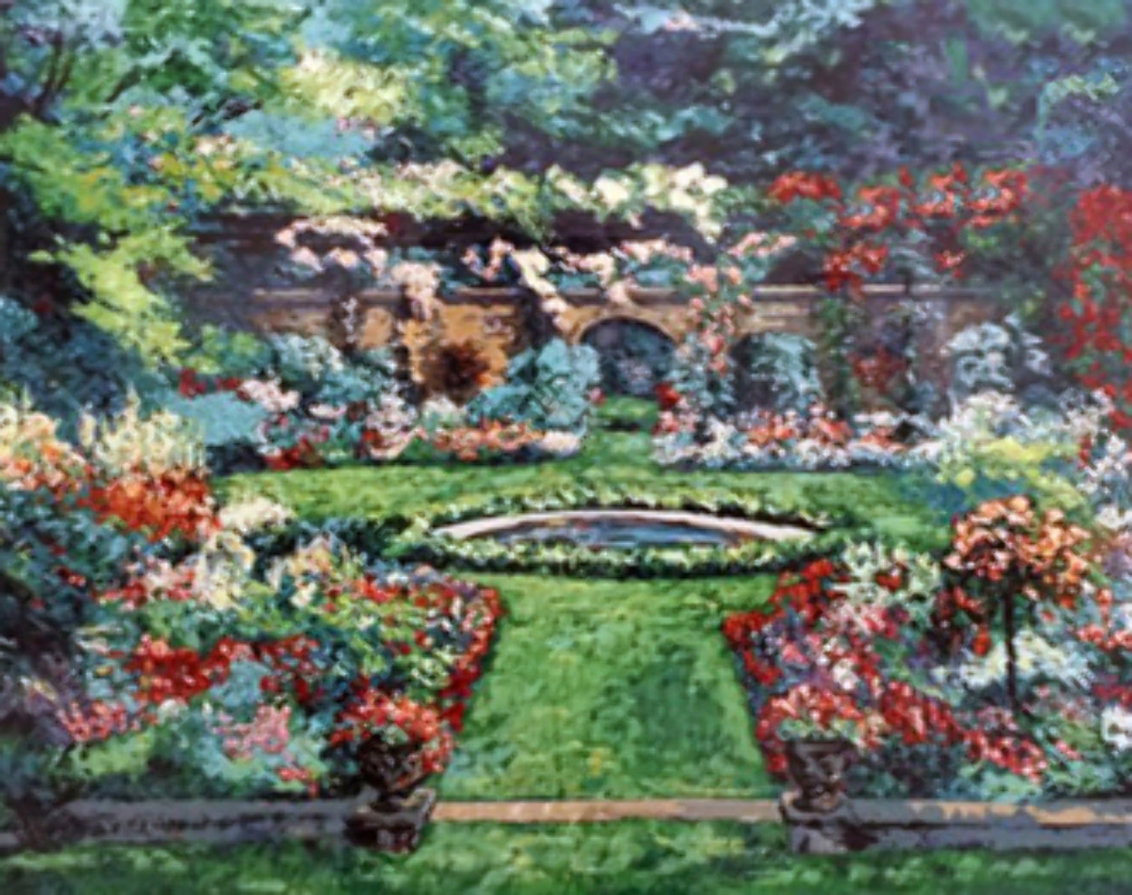 Summer Rose Garden 1990 Limited Edition Print by Mark King