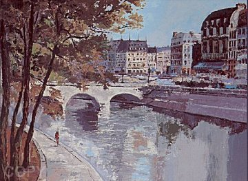 St Michel (Paris) 1987 Limited Edition Print by Mark King