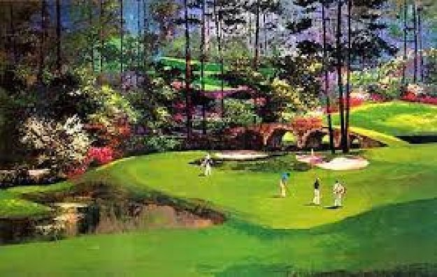 Augusta Hole 11 1989 Limited Edition Print by Mark King