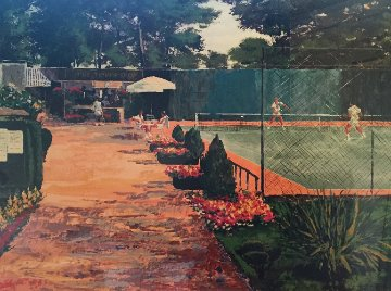 Tennis Players Limited Edition Print by Mark King