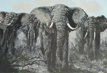 Elephant Stand 1984  Limited Edition Print by Mark King