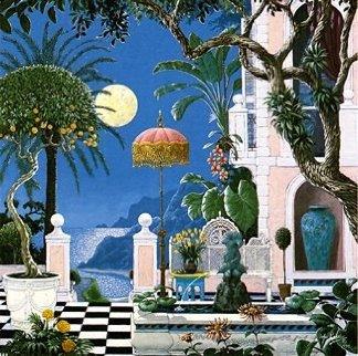 Positano Moon AP Limited Edition Print by John Kiraly