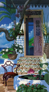 Door to the Caribbean AP 1990 Super Huge Limited Edition Print - John Kiraly