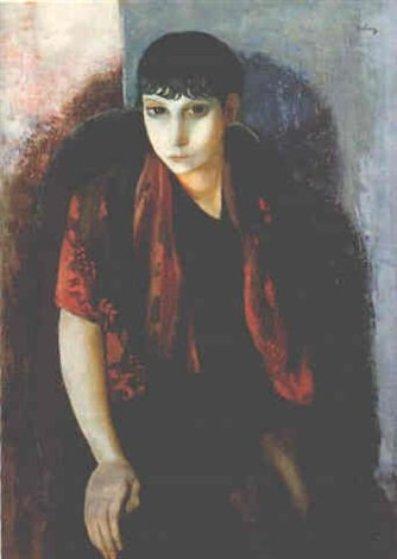Portrait D'un Dame Espagnole 1927 Other by Moise Kisling