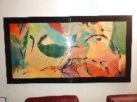 Boomerang Arrows 1989 34x63 Super Huge Original Painting by Peter Kitchell - 1