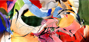 Boomerang Arrows 1989 34x63 Huge Original Painting - Peter Kitchell