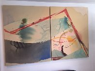 Salt And Pepper A And B, Set of 2 Acrylic 1982 40x104 Super Huge Original Painting by Peter Kitchell - 1