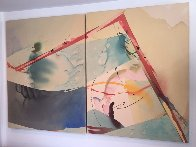 Salt And Pepper A And B, Set of 2 Acrylic 1982 40x104 Super Huge Original Painting by Peter Kitchell - 2