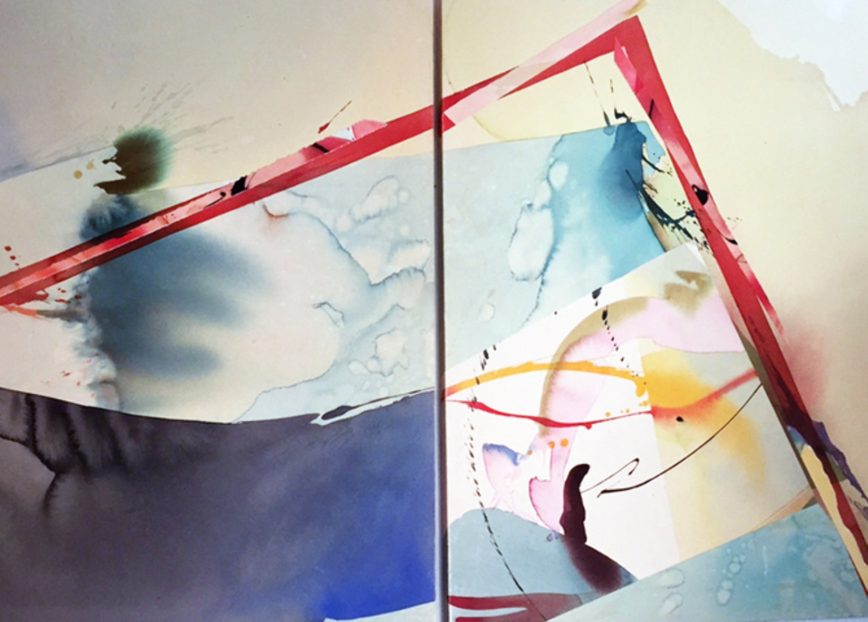Salt And Pepper A And B, Set of 2 Acrylic 1982 40x104 Super Huge Original Painting by Peter Kitchell