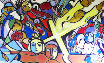 Maria Ledezma 1988 52x78 Huge  Original Painting - Valery Klever