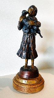 Viola's Pups Bronze Sculpture 1996 16 in Sculpture - Susan Kliewer