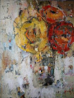 Ranunculus 2009 40x30 Super Huge Original Painting - Julia Klimova