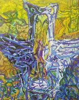 Birdman 1985 30x24 Original Painting by Richard Klix - 0