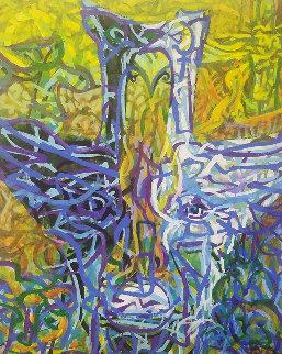 Birdman 1985 30x24 Original Painting - Richard Klix