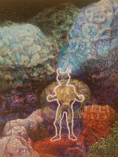 Homunculi 1999 48x36 Original Painting - Richard Klix