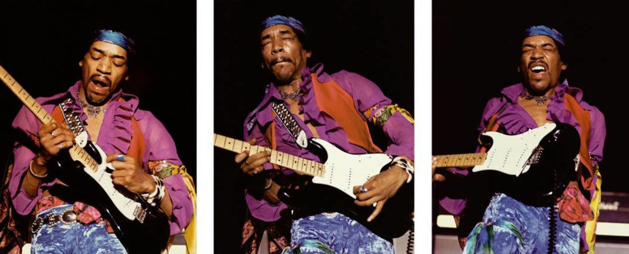 Hendrix Triptych Limited Edition Print by Robert Knight