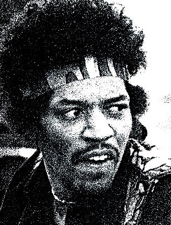 Hendrix Head Limited Edition Print - Robert Knight