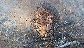 Leopard Crawl 2003 47x27 Original Painting - Kobus Moller
