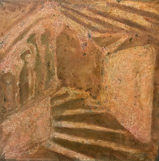 Chateau 2000 58x58 Original Painting - Horst Kohlem