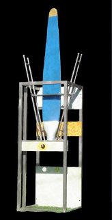 Tequesta Totems Sculpture 2005 144x40 Mural Sculpture - Horst Kohlem