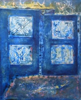 Blue Transition 2009 78x67 Original Painting - Horst Kohlem