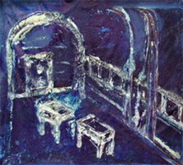 Viterbo Blue 2002 27x25 Original Painting - Horst Kohlem