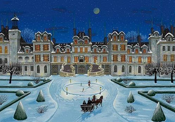 Chateaux Suite: Fontainebleau 1996 Limited Edition Print by Liudimila Kondakova