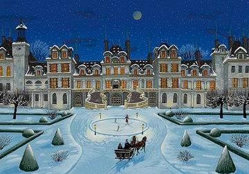 Chateaux Suite: Fontainebleau 1996 Limited Edition Print by Liudimila Kondakova