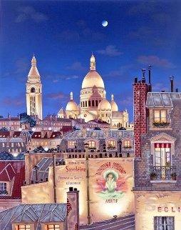 Rooftops of Paris Suite: Paris Evening 2000 Limited Edition Print by Liudimila Kondakova