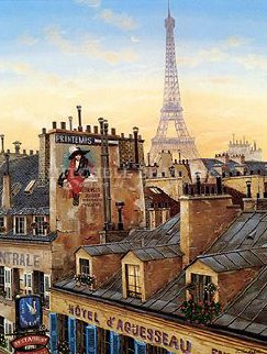 Rooftops of Paris Suite (Paris Morning / Paris Evening) 2000 Limited Edition Print by Liudimila Kondakova