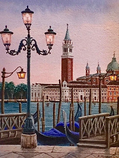 Venice At Dusk 2006 15x13 Original Painting by Liudimila Kondakova