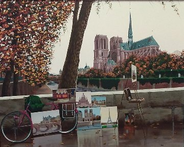 Autumn on the Seine 2004 Notre Dame Limited Edition Print by Liudimila Kondakova
