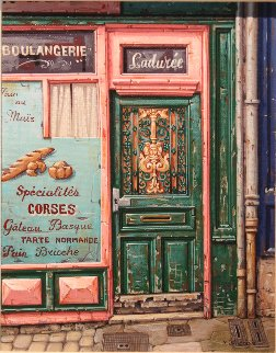 Boulangerie 2000 15x13 Original Painting - Liudimila Kondakova