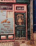 Boulangerie 2000 15x13 Original Painting by Liudimila Kondakova - 2