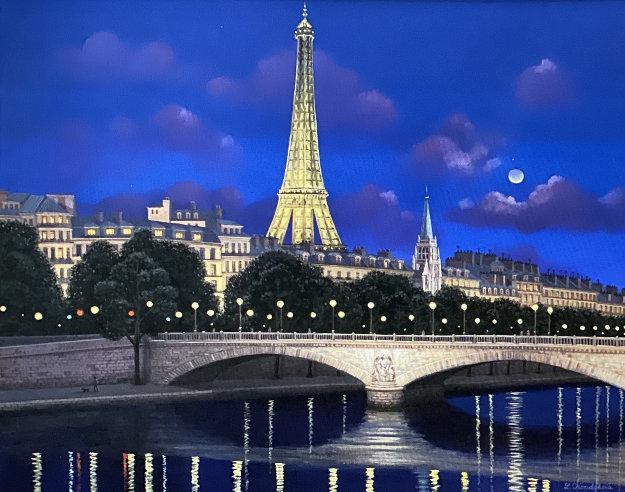 Ponts De Invalides 27x31 Original Painting by Liudimila Kondakova
